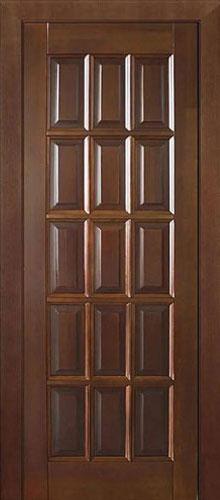 """Деревянная дверь """"Англ. решетка ПГ"""""""