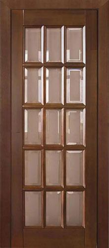 """Деревянная дверь """"Англ. решетка ПО"""""""