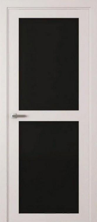 Белый шелк/Триплекс черное